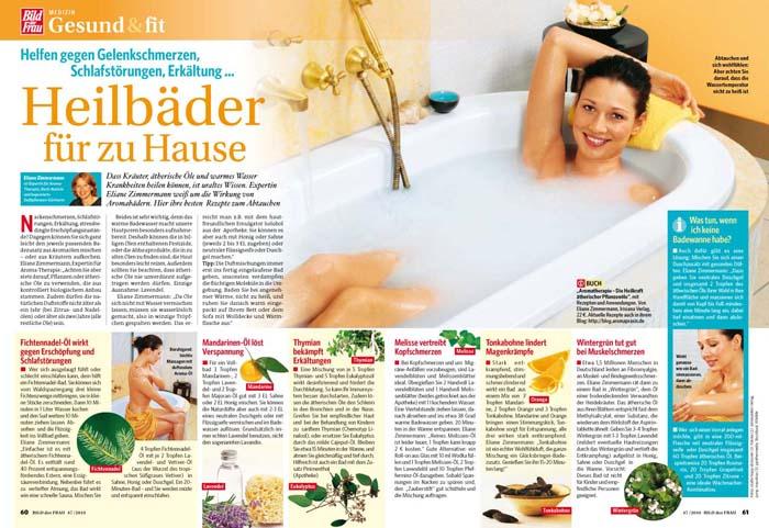 Artikel mit Aromapraktikerin Eliane Zimmermann