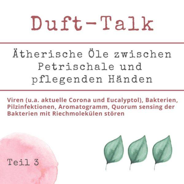 WebSeminar - Duft Talk 3 - Aromatherapie Eliane Zimmermann